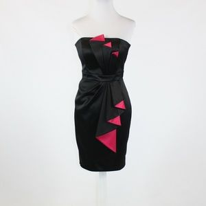 Black WHITE HOUSE BLACK MARKET wiggle dress 0